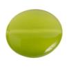 Cat's Eye Bead 16mm Round Green